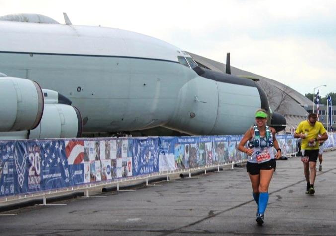 Megan Running the Air Force Marathon